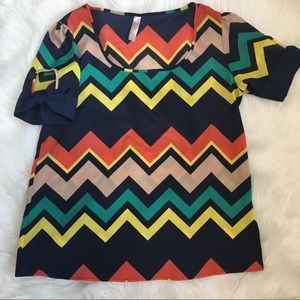 Multi chevron boutique top Francesca's